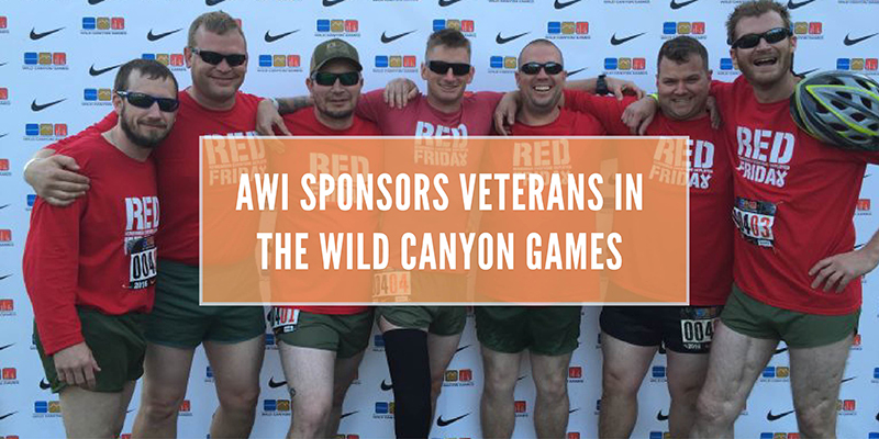 A group of seven veterans participating in the Nike Wild Canyon Games in Oregon.