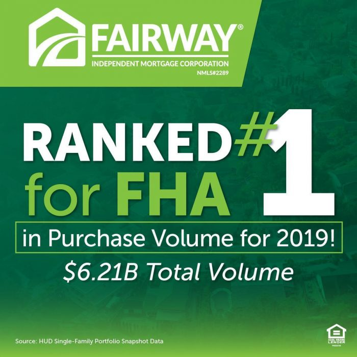 Fairway ranked #1 for FHA purchase volume graphic